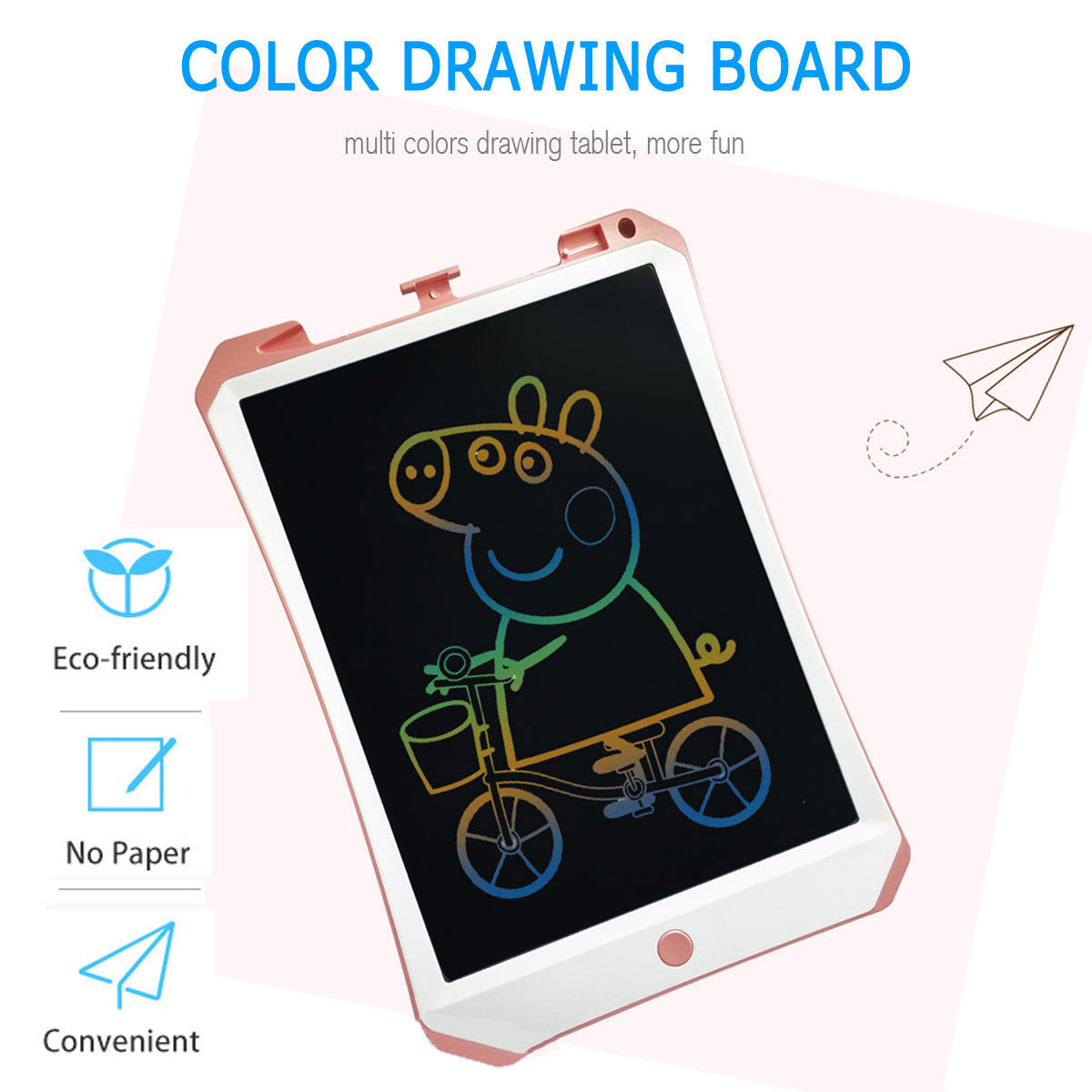 Color : Blue, Size : 8.5 inches Zxcvlina-OFC Colorful LCD Electronic Writing Tablet Handwriting Paper Drawing Tablet at Home and Outdoor Toddler Learning Toys