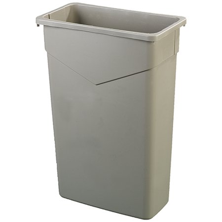 Carlisle 34202306 TrimLine Waste Container 23 gal - Beige 23 Gallon Rectangular Waste Containers