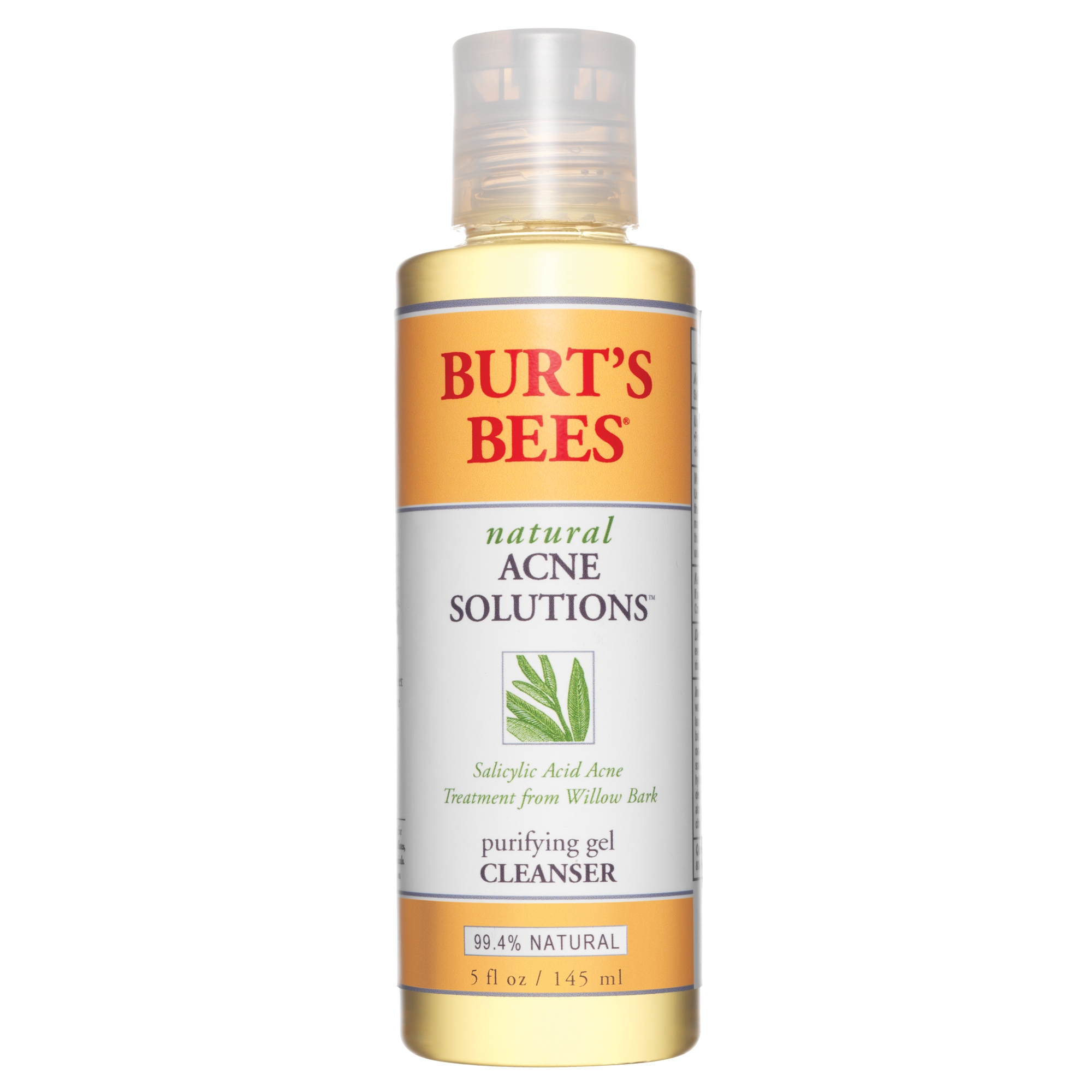 Burt's Bees Natural Acne Solutions Purifying Gel Cleanser, 5.0 FL OZ