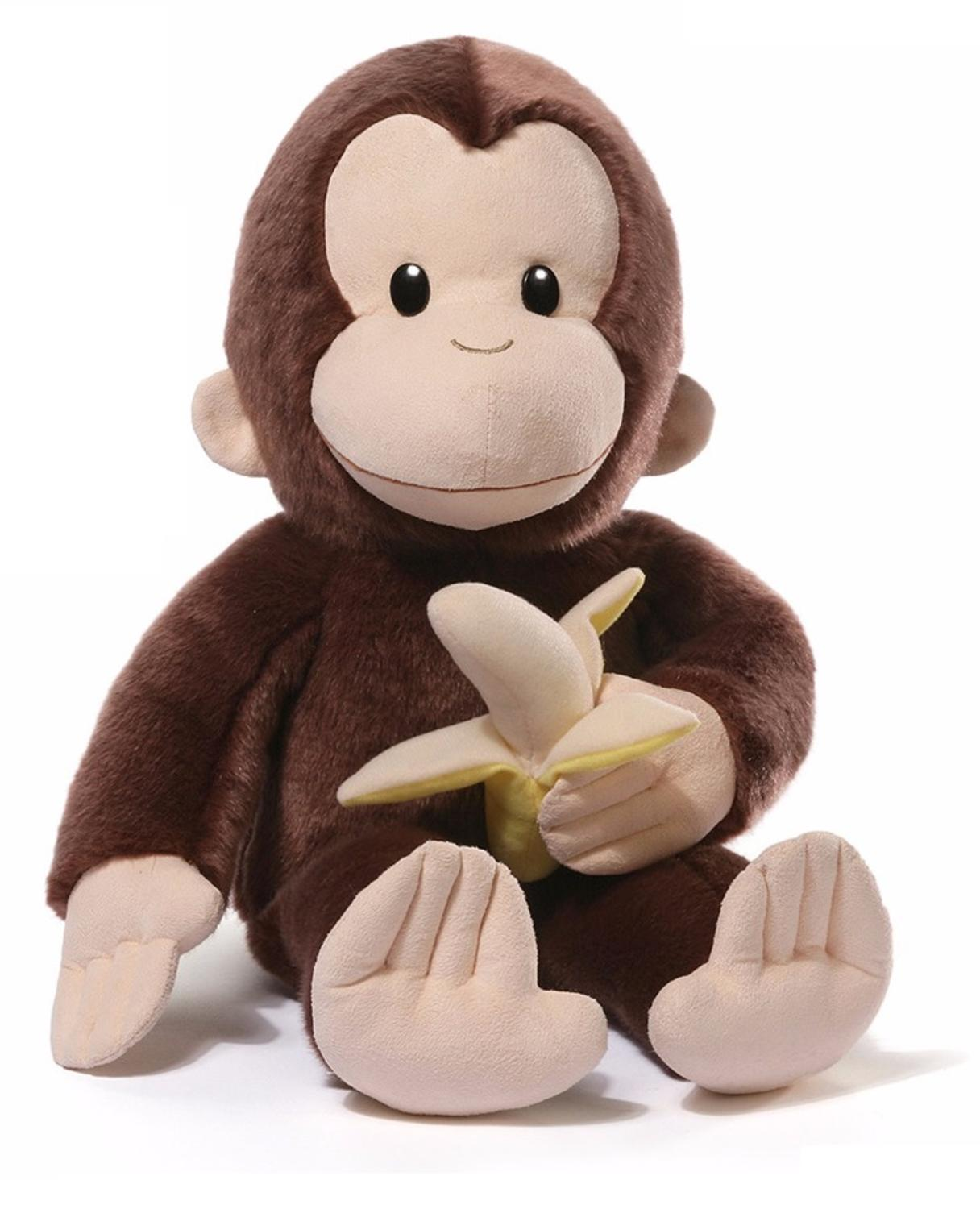 18.5� Soft Plush 75th Anniversary Curious George Stuffed Animal Toy by Gund