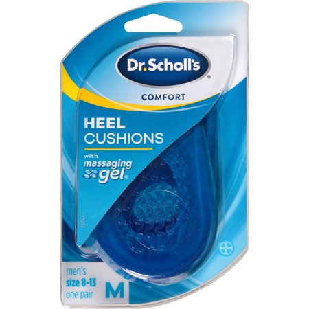 Dr. Scholl's Comfort Heel Cushions for Men, 1 Pair, Size 8-13 (Mens Size 13 High Heels)