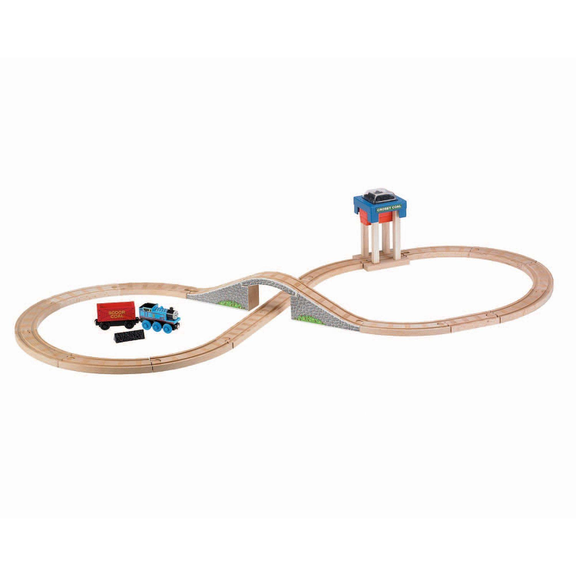 Thomas & Friends Wooden Railway Coal Hopper Figure 8 Set by FISHER PRICE