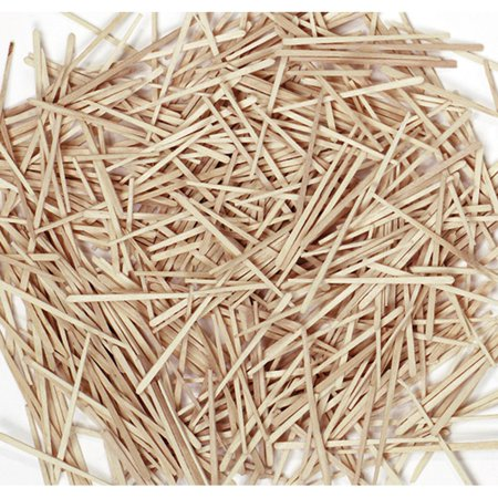 369001 Flat Wood Toothpicks, Wood, Natural, 2500/Pack (CKC369001) (CK-369001), Supply students with natural flat wood toothpicks and glue and watch.., By Chenille Kraft Chenille Kraft Reusable Tub