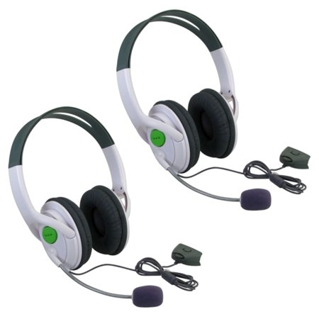 Inset Headset (Insten 2 Packs Live Gaming Headset Headphone With Microphone Mic for XBOX 360 Slim / XBOX)