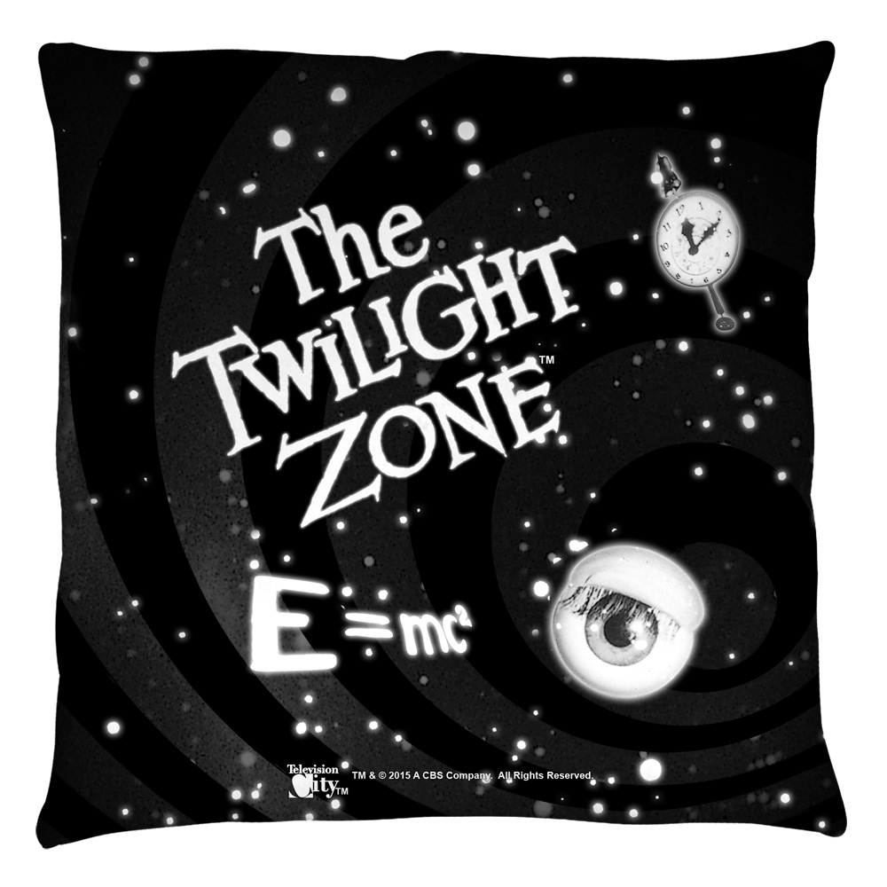 The Twilight Zone Another Dimension Throw Pillow White 16X16