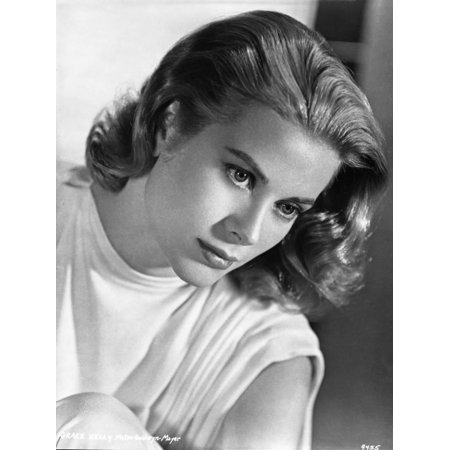 Grace Kelly Holding Horse Black and White Print Wall Art By Movie Star News