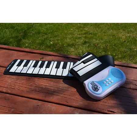 MukikiM Rock And Roll It - Piano. Flexible, Completely Portable, 49 standard Keys, battery OR USB powered. 2016 ASTRA Best Toy for Kids Award