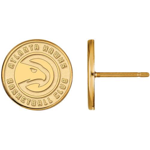 LogoArt NBA Atlanta Hawks 14kt Gold-Plated Sterling Silver Stud Earrings