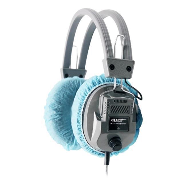 "HamiltonBuhl Disposable Ear Cushion Covers, Blue, 4.5"" Deluxe,  Master Carton 12 boxes"