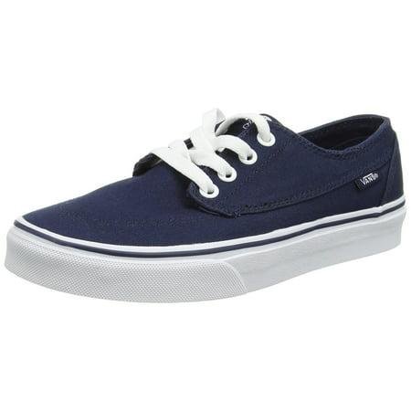 Vans Unisex Brigata Canvas Skate Shoes-Dress Blues/True White-12-Women/10.5-Men VZSL4M0