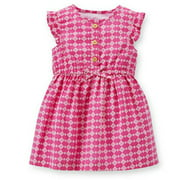 Baby Girls' Geo Print Dress, Purple, 9 Months