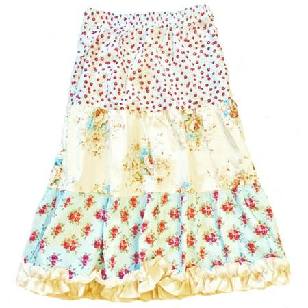 Girls' Floral Peasant Skirt