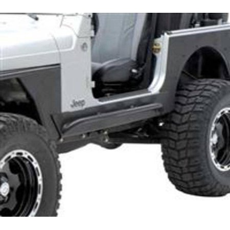 Smittybilt 2004-2006 Jeep Unlimited LJ XRC Rock Sliders With Step Black Textured 76868
