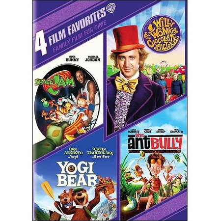 4 Film Favorites: Family Film Fun Time: Yogi Bear / Willy Wonka And The Chocolate Factory / The Ant Bully / Space Jam (Widescreen)