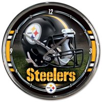 Pittsburgh Steelers WinCraft Chrome Wall Clock - No Size