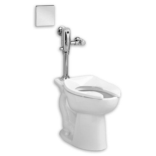 American Standard 3461.716.020 Commercial Madera Toilet with Selectronic Flushing Valve Combo, White