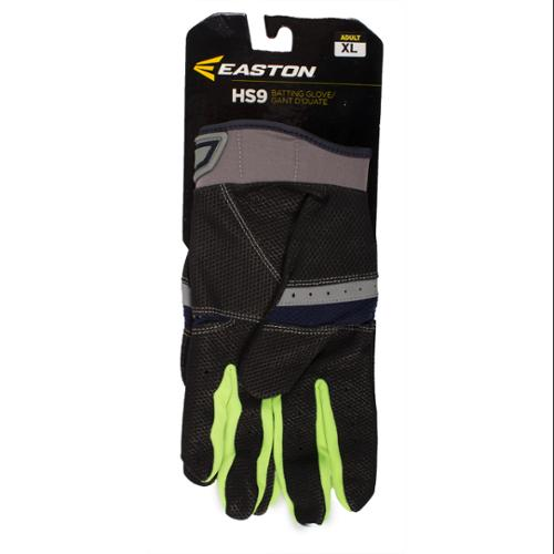 Easton A121837PRXL HS9 Adult Batting Gloves, Grey/Navy XL