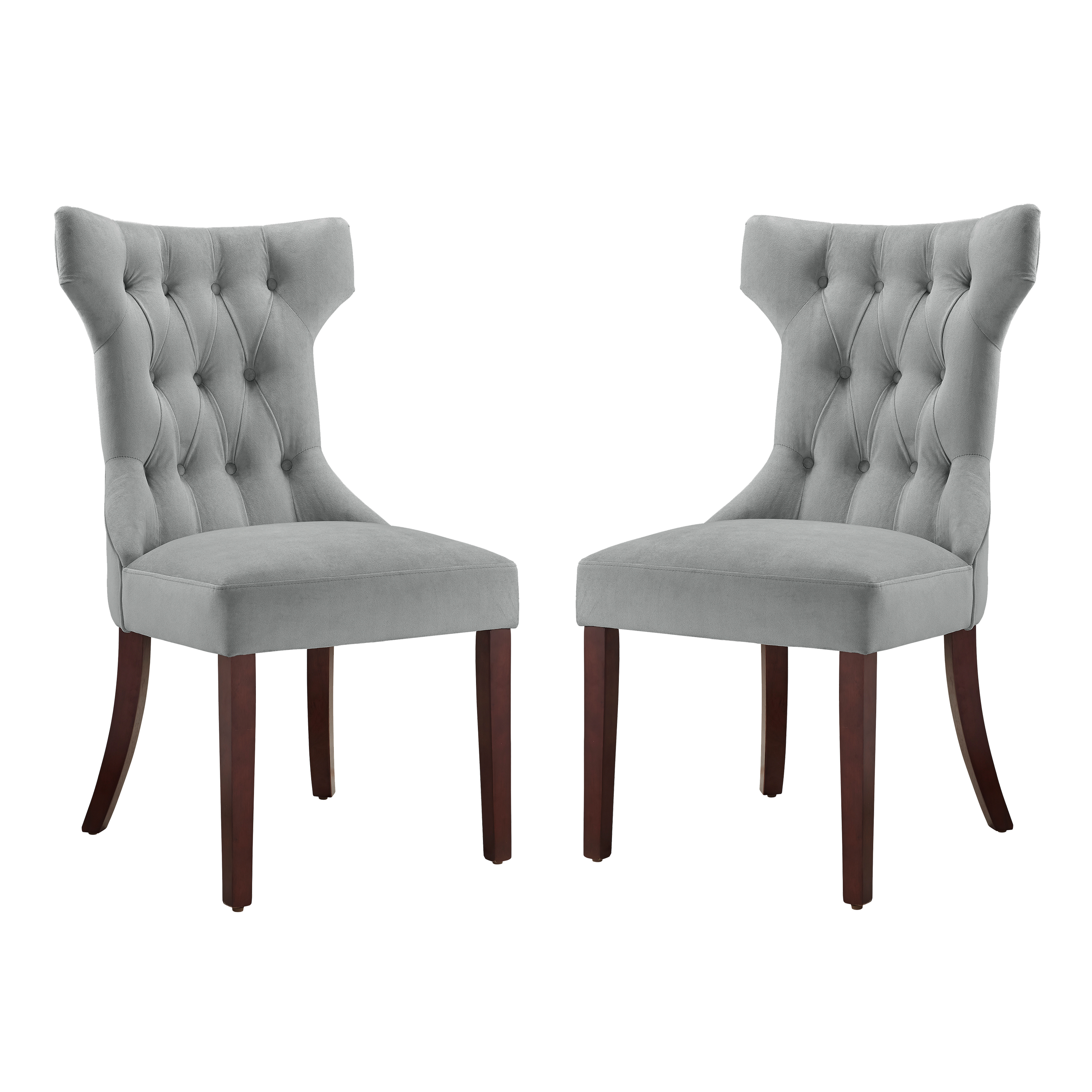 Dorel Living Clairborne Tufted Upholestered Dining Chair, Set of 2