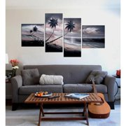 The Lighting Store 'Beach at Night' Hand Painted Oil on Canvas Art Set