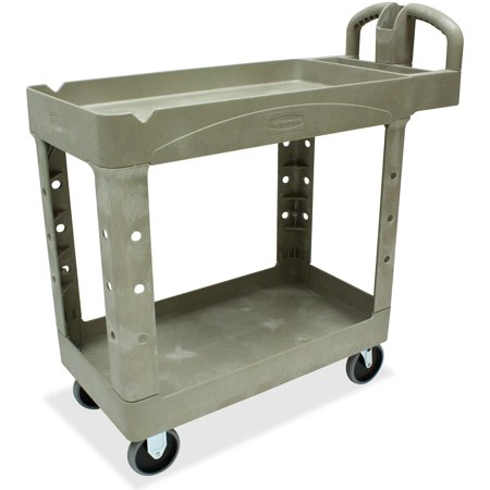 Rubbermaid Commercial Products 3 Shelf - Rubbermaid Commercial, RCP450088BG, Two Shelf Service Cart, 1 Each, Beige