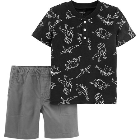 Carters Baby Boys Dinosaur Henley Shorts -