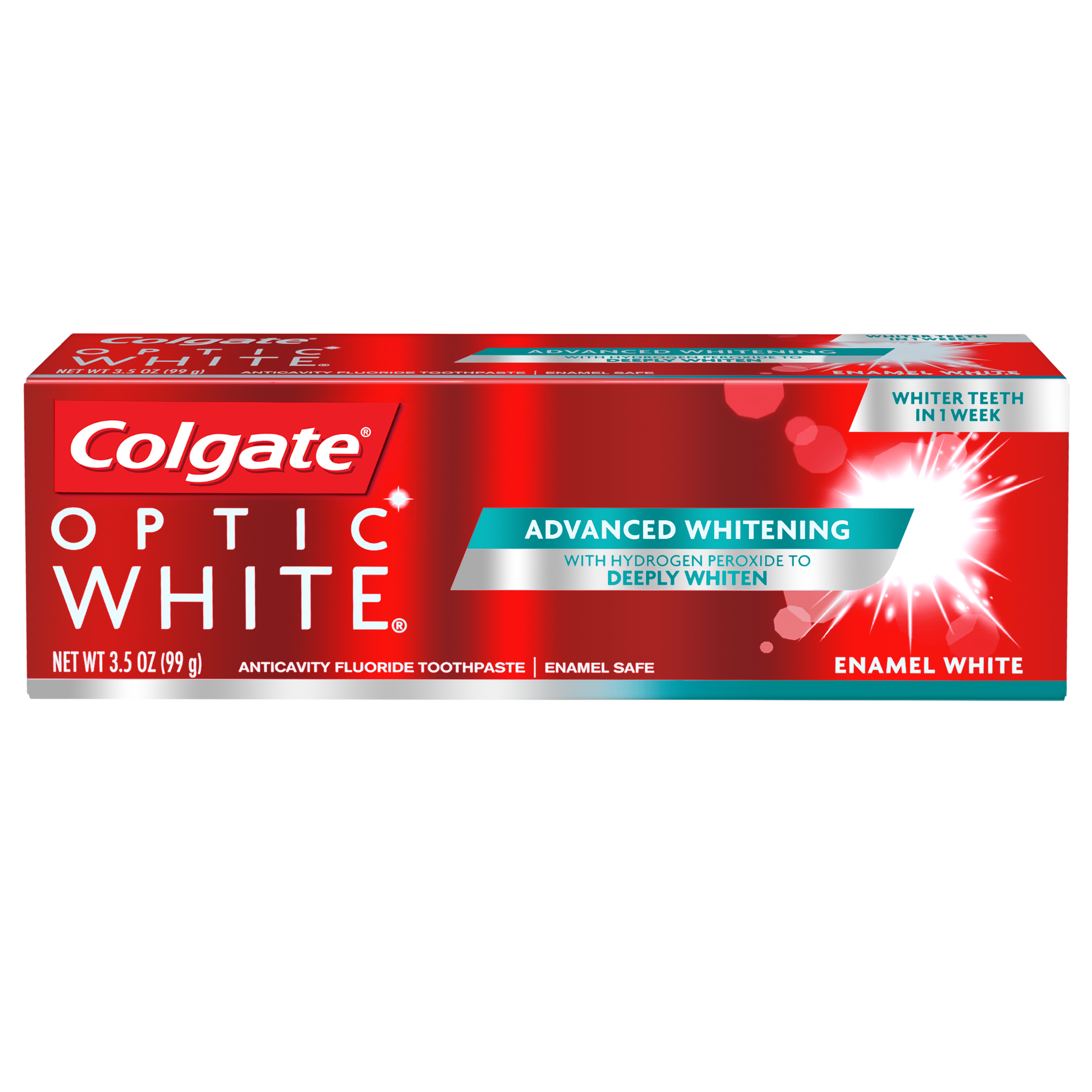Colgate Optic White Whitening Toothpaste, Enamel - 3.5 oz