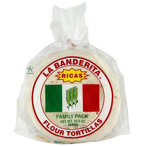 La Banderita Flour Tortillas, 22.5 oz (Pack of 12)