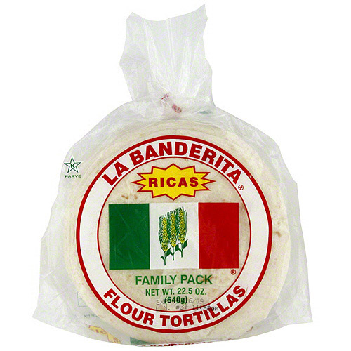 La Banderita Flour Tortillas, 22.5 oz (Pack of 12)