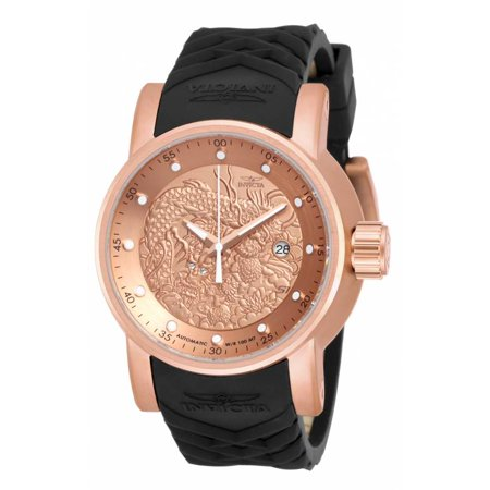 S1 Rally Automatic Rose Dial Black Polyurethane Mens Watch 18181