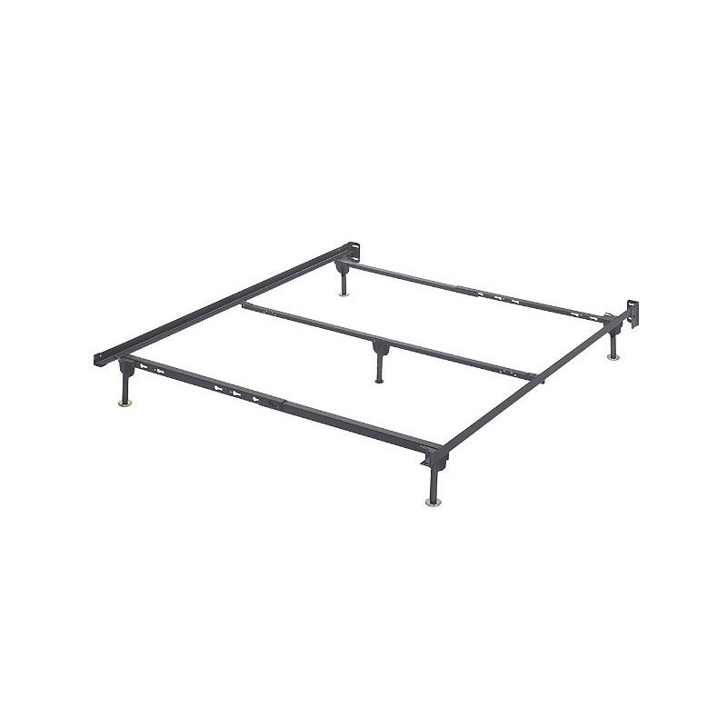 Metal Bed Frames Queen ashley queen metal bed frame in black - walmart