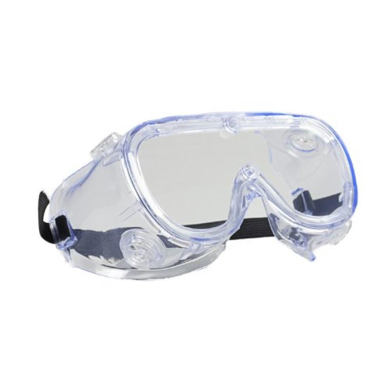 Economy Chemical Splash Goggles With Clear Frame And Clear Duralite® Anti-Fog Lens