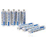 14500 rechargeable battery,ON THE WAY 8PcsTCR 3.7V AA Battery for Flashlight and Vedio