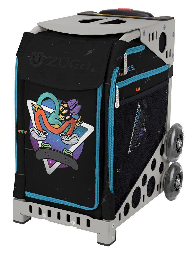 Zuca Skateboard Kickflip Sport Insert Bag and Gray Frame with Flashing Wheels by ZUCA