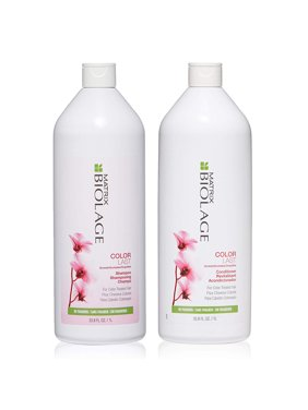 ($58 Value) Matrix Biolage COLORLAST Shampoo and Conditioner Liter Duo, 33.8 Oz Each