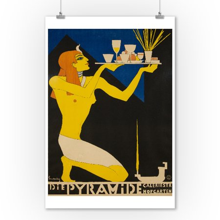 Die Pyramide Vintage Poster (artist: Schnackenberg, Walter) Germany c. 1920 (9x12 Art Print, Wall Decor Travel Poster)](Vintage Halloween Photos 1920)