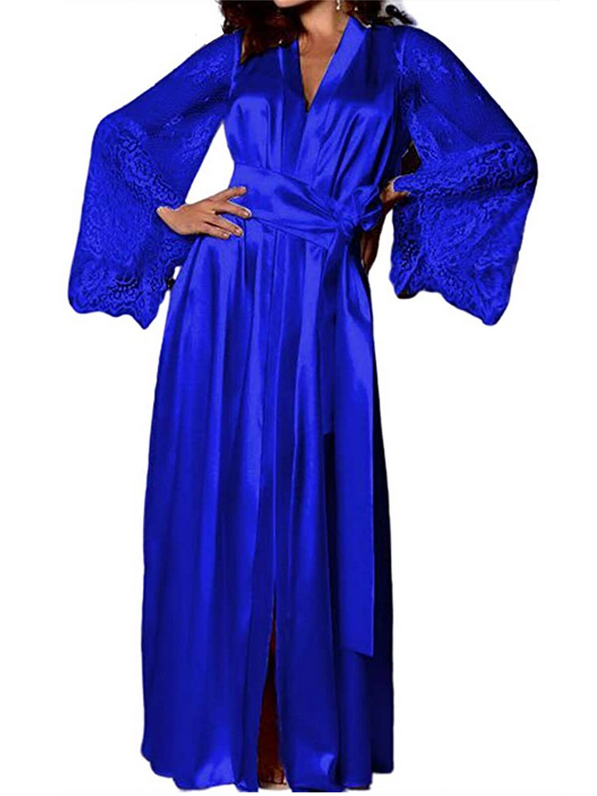 Satin Lace Robes silk maxi robe Satin and Silk Robes Silk kimono Robes,Lace Kimono Robes Wedding Robes Gift for her  Bridesmaid robe