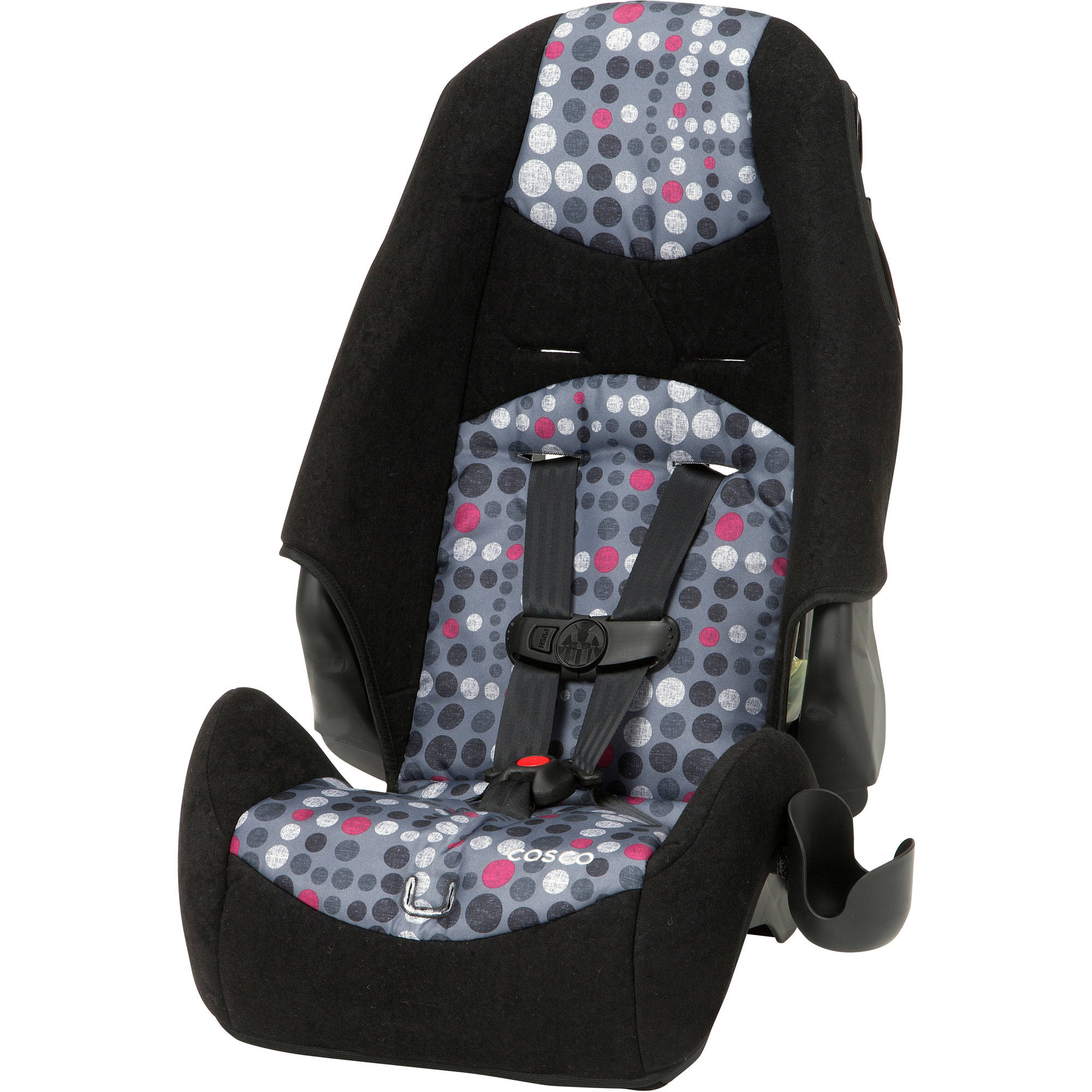 Cosco Highback 2-in-1 Booster Car Seat, Lots Of Dots