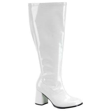 White Gogo Boots Size 8 (Morris Costumes Gogo 300X Boot White Size 8, Style)