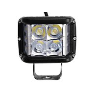 2X 4INCH 35W LED WORK LIGHT BAR Side Shooter COMBO Fit For Ford Wrangler SUV 4WD