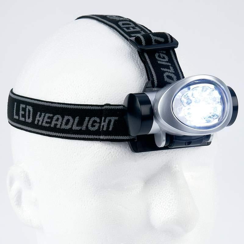 Mitaki 8-Bulb LED Head Lamp