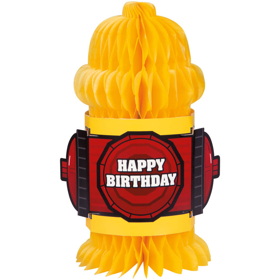 "10"" Fire Hydrant Shaped Firefighter Birthday Decoration"