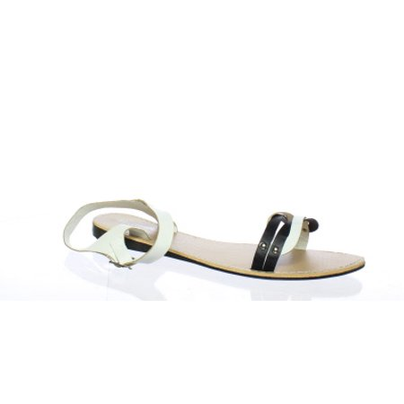 Charles Albert Womens White Ankle Strap Flats Size 8