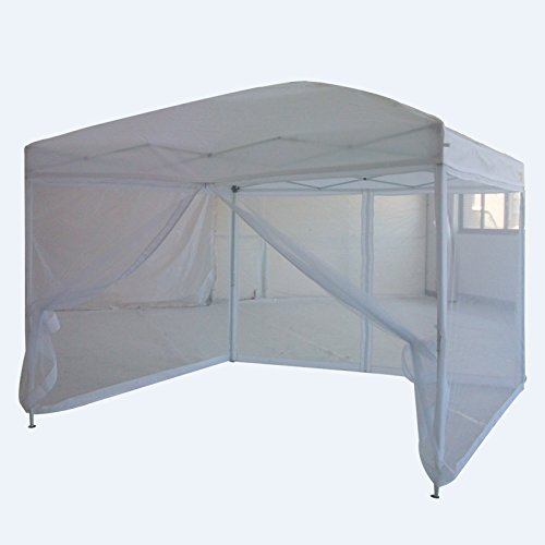 Quictent Pop Up Canopy Gazebo Screen House Multisize & Color 10' x 10' White by