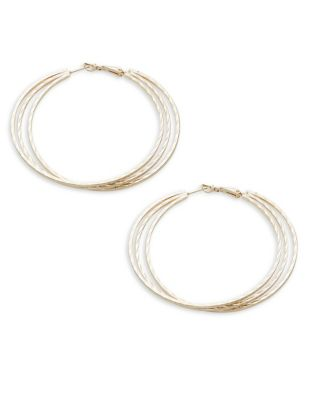 Textured Triple Hoop Earrings
