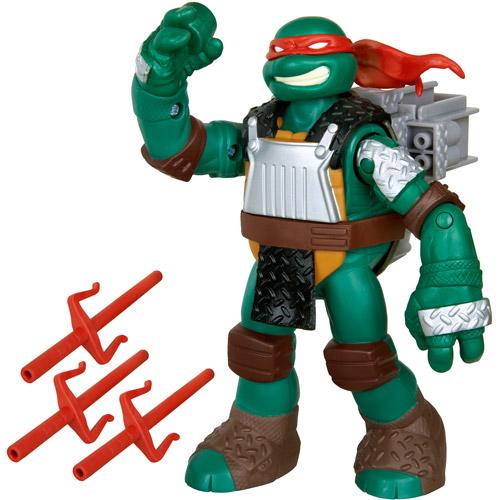 Teenage Mutant Ninja Turtles Flingers Raph Sai Throwing Deluxe Action Figure