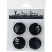 """Two Paper Divas Clear Stamps 8.5""""X4.5""""-Silhouette Circles"""
