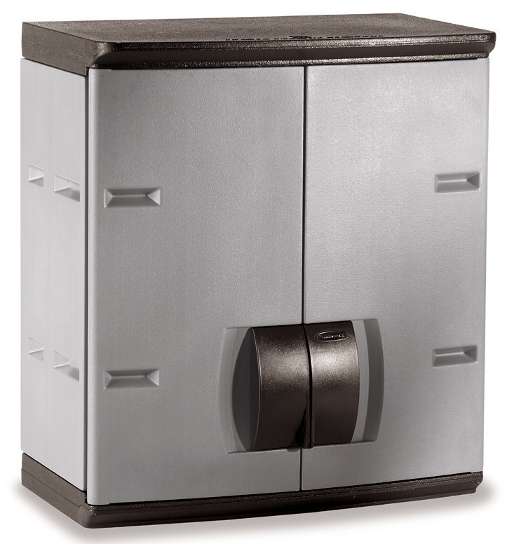 """Rubbermaid 788800mICHR 24"""" Mica and Charcoal Wall Cabinet"""