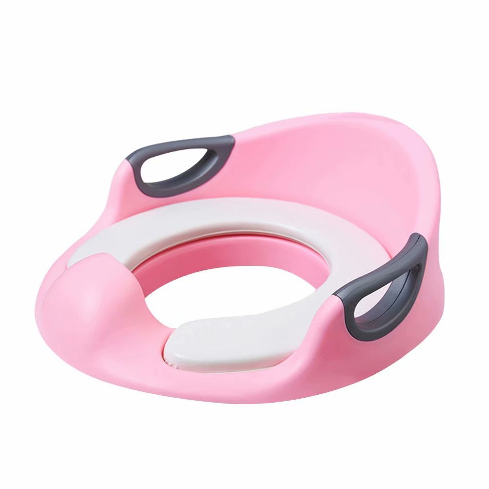 Noroomaknet Potty Training Seat For Kids Boys Girls Toddlers Toilet Seat For Baby With Cushion Handle And Backrest Toilet Trainer For Round And Oval Toilets