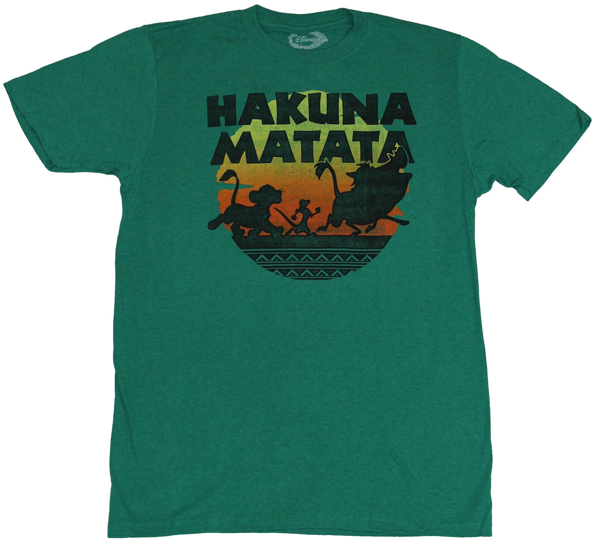 Disney The Lion King Mens T Shirt Hakuna Matata Colorful Sunset March Silhouette