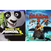 How to Train your Dragon 2 & Kung Fu Panda 2 Sequel Set from the creators of Ice Age Blu Ray Animated Set by
